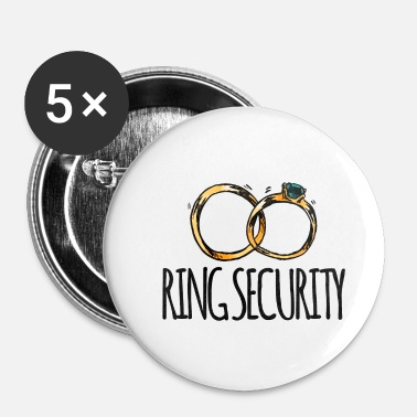 Bröllop Wedding / Äktenskap: Ring Security - Små knappar 25 mm