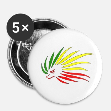Rasta Rasta Hedgehog - Buttons/Badges lille, 25 mm