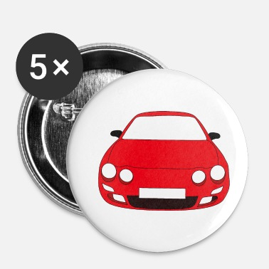Bolide voiture rouge - Badge petit 25 mm