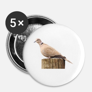 Sourd colombe sourds pigeon - Badge petit 25 mm