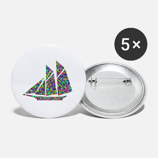 Sailboat Buttons - paddle boat sail boat rowing boat sailboat41 - Small Buttons white