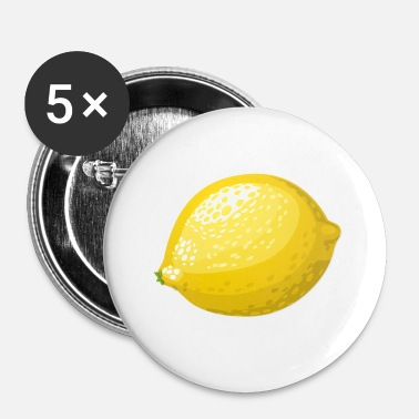 Citron citron lime citron veggie Veggie agrumes - Badge petit 25 mm