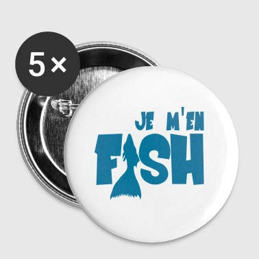 Fish - Buttons/Badges lille, 25 mm