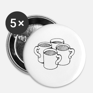 Tasses tasses - Badge petit 25 mm