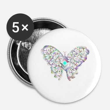 Hypnose papillon - Badge petit 25 mm