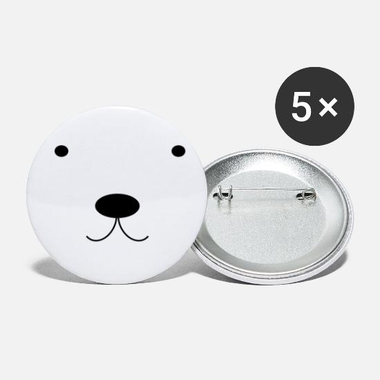 Polar Buttons - Polar Bear - Small Buttons white