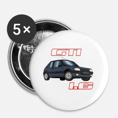 Bolide 205 GTI 1.6 91 92 Gris Graphite - Badge petit 25 mm