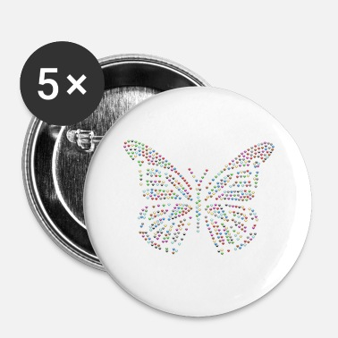 Hypnose Papillon coloré belle - Badge petit 25 mm