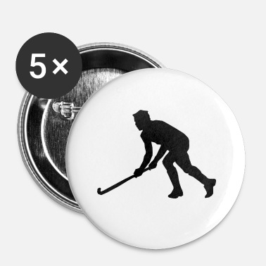 Hockey Sur Gazon Hockey sur gazon Hockey Silhouette - Badge petit 25 mm