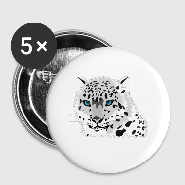 snow leopard - Buttons small 25 mm