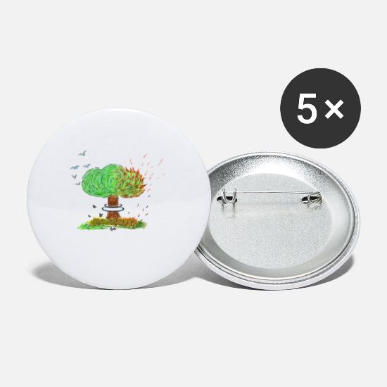 Atomic Bomb Buttons - NUCLEAR TREE - Small Buttons white
