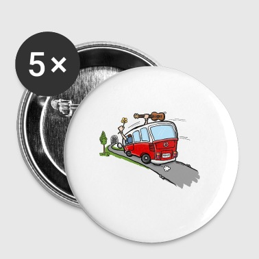 Hippie Van Bus - Buttons klein 25 mm