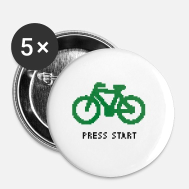 Start Pixelated moto - Premere Start - Spilla piccola 25 mm