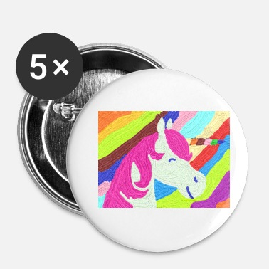 Pensel Unicorn pensel - Buttons/Badges lille, 25 mm