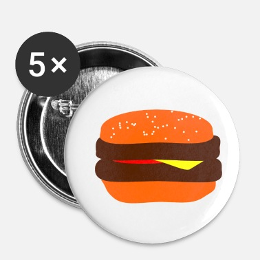Burger Burger! Burger! Burger! Burger! Burger! Delicious - Buttons small 25 mm
