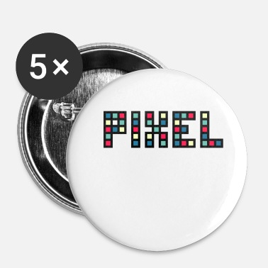 Pixelated pixel - Buttons small 25 mm