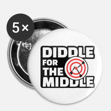 Diddl Diddle for the Middle - Lustiges Dart Shirt - Buttons klein 25 mm
