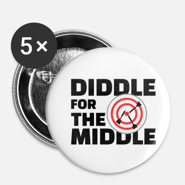 Diddl Diddle for the Middle w - Buttons klein 25 mm