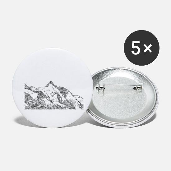 Mountains Buttons - grossglockner - Small Buttons white