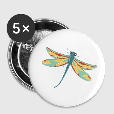 Dragonfly dragonfly dragonfly - Buttons small 25 mm