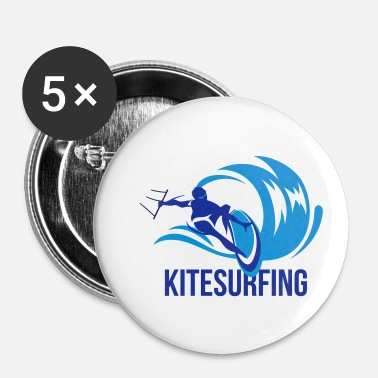 Kiteboard Kitesurfer sur les courses de kiteboard wave - Badge petit 25 mm