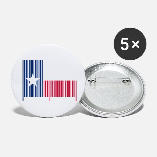 Houston Badges - Made in Texas Barcode - Petits badges blanc