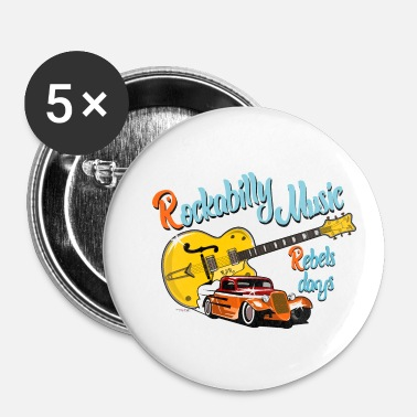Rockabilly rockabilly - Spilla piccola 25 mm