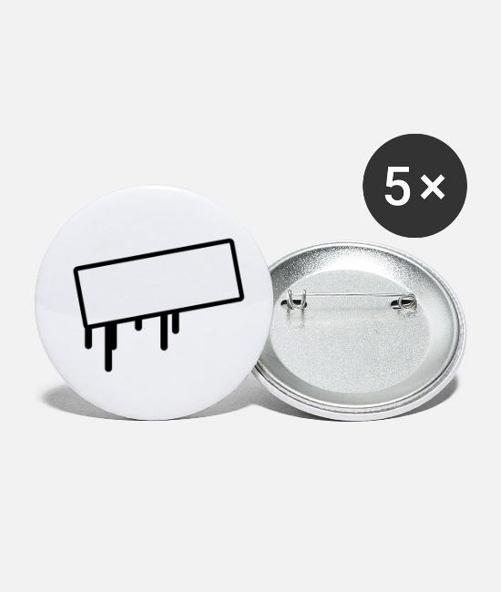 Label Buttons - sign - Small Buttons white