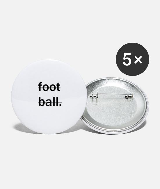 Ball Buttons - no football - Small Buttons white