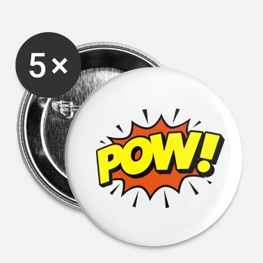Oui Bulle de BD POW! - Speechbubble, style comique - Badge petit 25 mm
