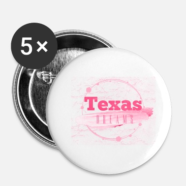 Alphabet Texas Dreams rose - Badge petit 25 mm