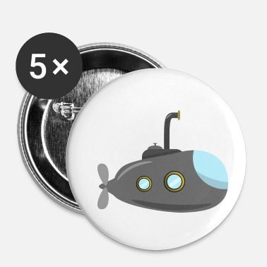 Submarine Small submarine, submarine, submarine - Buttons small 25 mm