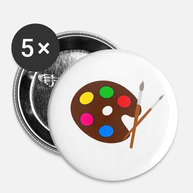 Pensel Kunstner farvepalet pensel - Buttons/Badges lille, 25 mm