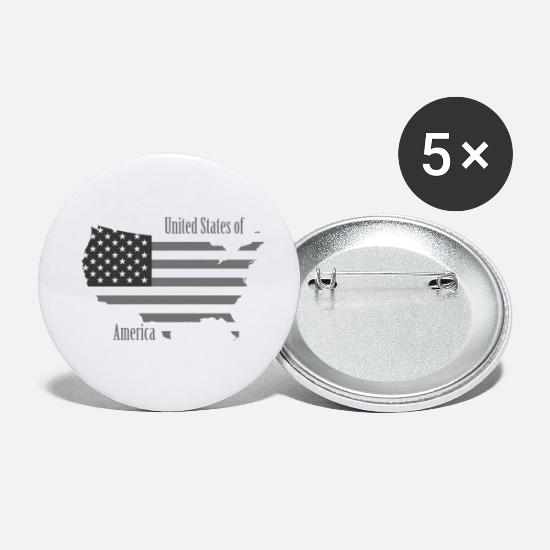 Usa Buttons - United States - Small Buttons white