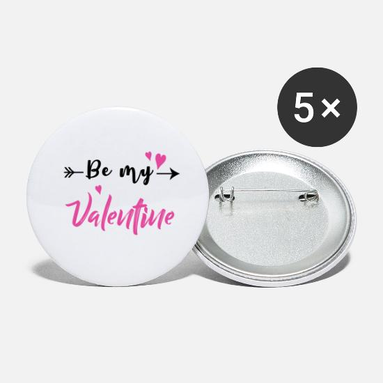 Girlfriend Buttons - Be my Valentine - Small Buttons white