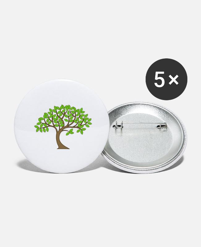 Crown Buttons - tree - Small Buttons white