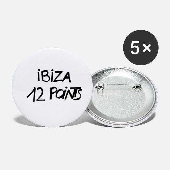 Demo Buttons & Anstecker - IBIZA 12 POINTS Original - Buttons klein Weiß