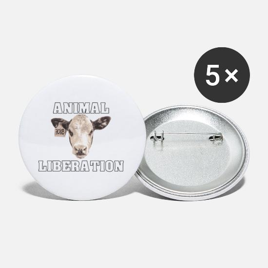 Animalbird Buttons - Animal Liberation Kalb - Small Buttons white