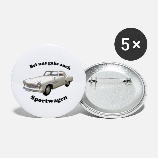 Ostalgie Buttons - Wartburg 313 - We also had sports cars - Small Buttons white
