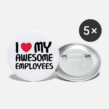 Sjov I Heart My Awesome Employees - Små buttons