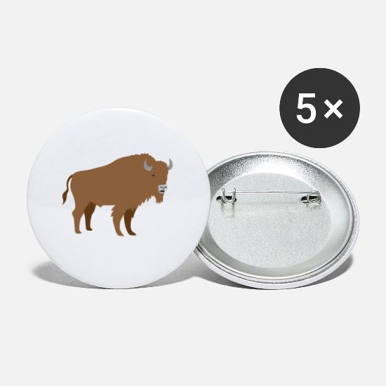 Big Buttons - Brown bison - Small Buttons white