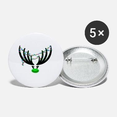Rudolf the reindeer - black / green - Small Buttons