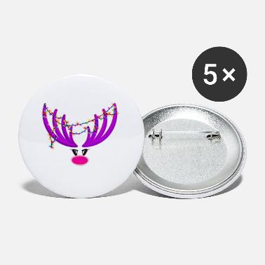 Rudolf the reindeer - purple / pink - Small Buttons