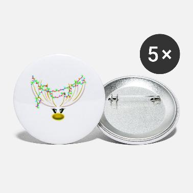 Rudolf the reindeer - yellow / white - Small Buttons