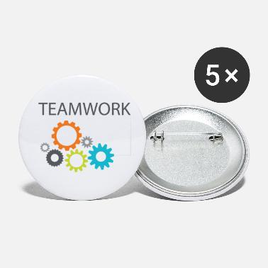 Work In Groups Teamwork Community Work Gift Gear Work - Small Buttons