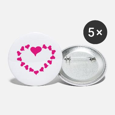 Heart Heart Heart - Small Buttons
