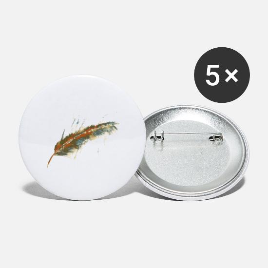 Nostalgia Buttons - feather - Small Buttons white