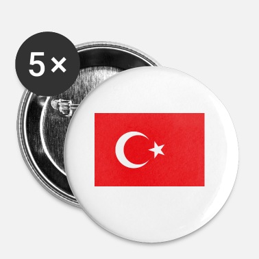 National National Flag Of Turkey - Buttons/Badges lille, 25 mm