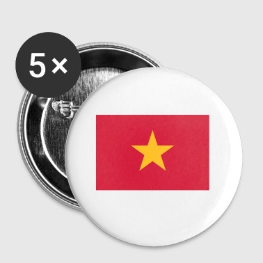 National Flag Of Vietnam - Buttons small 25 mm