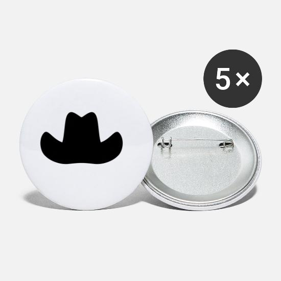 Line Dancing Buttons - Hat for cowboys - Small Buttons white